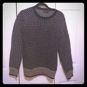 J. Crew patterned wool sweater